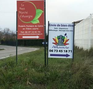 Atlanvie. panneaux indication route