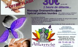offre flash massage drainant Atlanvie